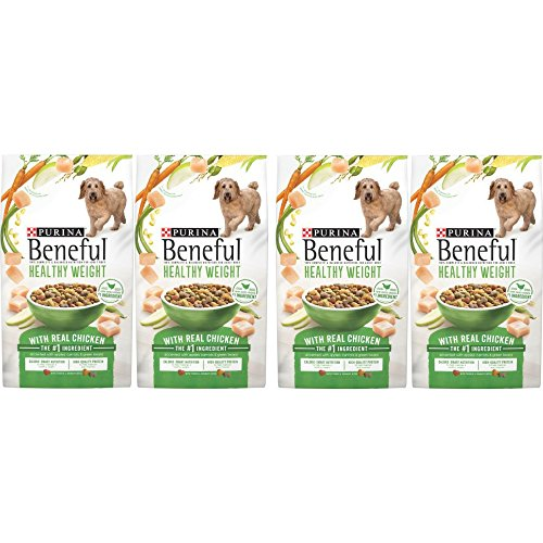 Purina Beneful Healthy Weight With Real Chicken Adult Dry Dog Food - 15.5 lb. Bag - 4 Pack