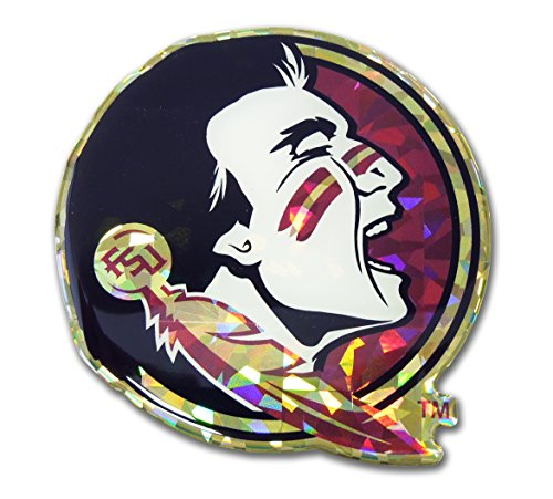 Elektroplate Florida State Seminoles Color NCAA Reflective 3D Decal Domed Sticker Emblem