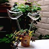 Mkono Durable Mini Transparent Bird Shape Design Decorative Hand-blown Glass Small Plant Watering Bulbs
