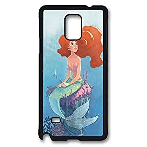 Note 4 case,Illustrators Series Protective Case,Perfect Fit with Aesthetic Print Back pc black Cover for samsung note 4,Ariel by runtopwell