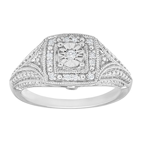 Diamond Vintage Style Ring - 1