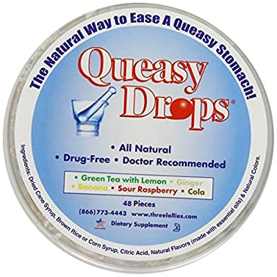 Three Lollies Queasy Drops Assorted for Nausea Relief