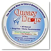 Three Lollies Assorted Queasy Drops for Nausea Relief, 48 Count