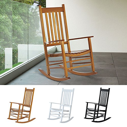 Generic NV_1008004549-DWX-US28  t Living Roomcony Deck Balcony Deck Wooden Rocking Chair Outdoor Garden Porch Rocker Seat Living Room Wooden Rockin