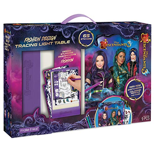 Make It Real - Disney Descendants 3 Sketchbook with Tracing Light Table. Fashion Design Tracing & Drawing Kit for Girls. Includes Descendants 3 Sketch Pages, Stencils, Stickers, & Backlit Tracing Pad ()