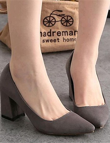 Casual vellón Gray Uk6 Cn38 Uk5 exterior tacón De negro Zapatos Mujer 5 Cn39 Eu38 5 us7 Gris Gray Robusto us8 tacones tacones Ggx Eu39 w8zTx