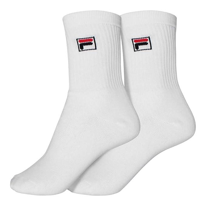 Fila Unisex calcetines 2 Pack blanco, Caps/Mützen:43-46 EU