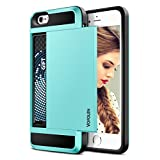 iPhone 6S Plus Case, Vofolen Impact Resistant iPhone 6 Plus Wallet Case Protective Shell Shockproof Rubber Bumper Cover Anti-scratch Case with Card Slot Holder for iPhone 6S Plus 5.5 inch - Light Blue