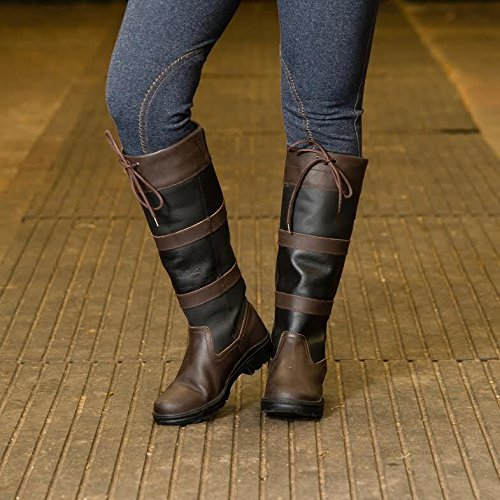 Joy Rider New Equestrian Water Resistant Horse Riding Country Walking Tall Boots Brown NIhr1