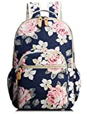 Backpack for Women, Floral College Student School Backpack Book Laptop Bag Cute Knapsack
