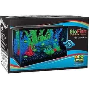 Glofish 10 gallon aquarium kit 20 x 10 led for 10 gallon fish tank hood