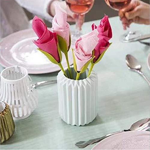 Huamao 4pcs Herramienta de doblado de Toallas de Papel de la Hoja pl/ástica Creativa de la Flor de Hotel Restaurant Rose de la decoraci/ón hogar de la Flor de Picnic Origami de la Flor