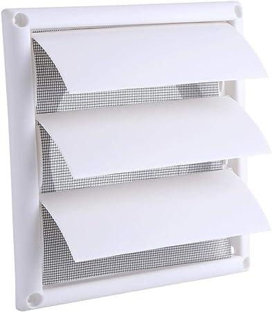 Fdit Rejilla de Ventilación de Aire de Plástico 3 Aletas Rejilla de Ventilación de Conducto de Pared Rejilla de Ventilación Rejilla de Plástico Neta con Cubierta de Protección(20 * 20CM): Amazon.es: Hogar