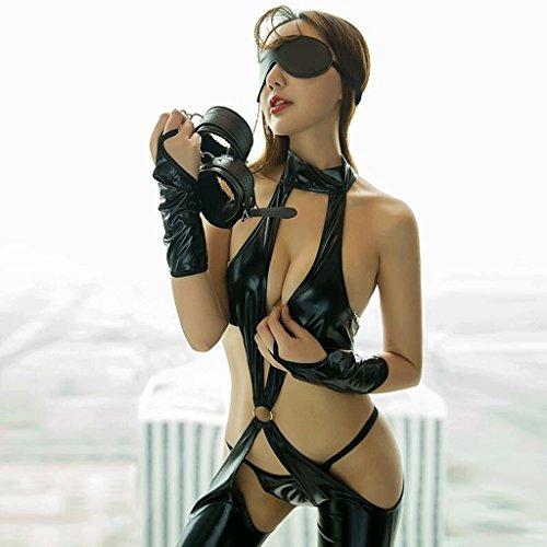 FLH Attraktive Unterwäsche Extrem verlockend Verbundene Leder Queen Uniformen Tease Leidenschaftliche Anzug Erogenous
