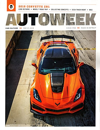 Autoweek Magazine May 21 2018 | 2019 Corvette ZR1