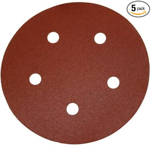5-Pack PORTER-CABLE 725501005 No.100 5-Inch Psa 5-Hole Disc