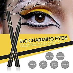Ladygo Waterproof Liquid Eyeliner Pencil Precision Liquid Felt Tip Quick Drying Eye Liner Pen Long Lasting, Brown-2# 0.08 Fl.Oz
