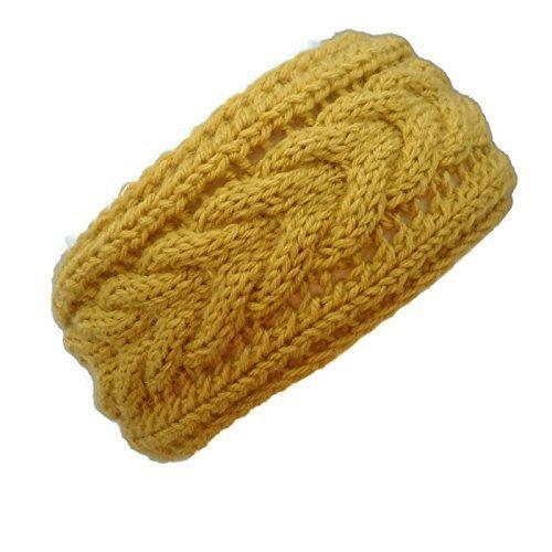 Ear Warmer Headband Women, Winter Headband for Women, Ear Muffs Yellow, Ready to Ship