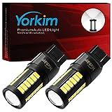 Yorkim 7440 Led Bulb Bright White Lights, T20 Led Bulbs, 7443 Led Bulbs, 7441 Led Bulbs, W21W Led Lights, 7444 Bulbs, for reverse/backup/brake light - 5730 33 SMD pack of 2