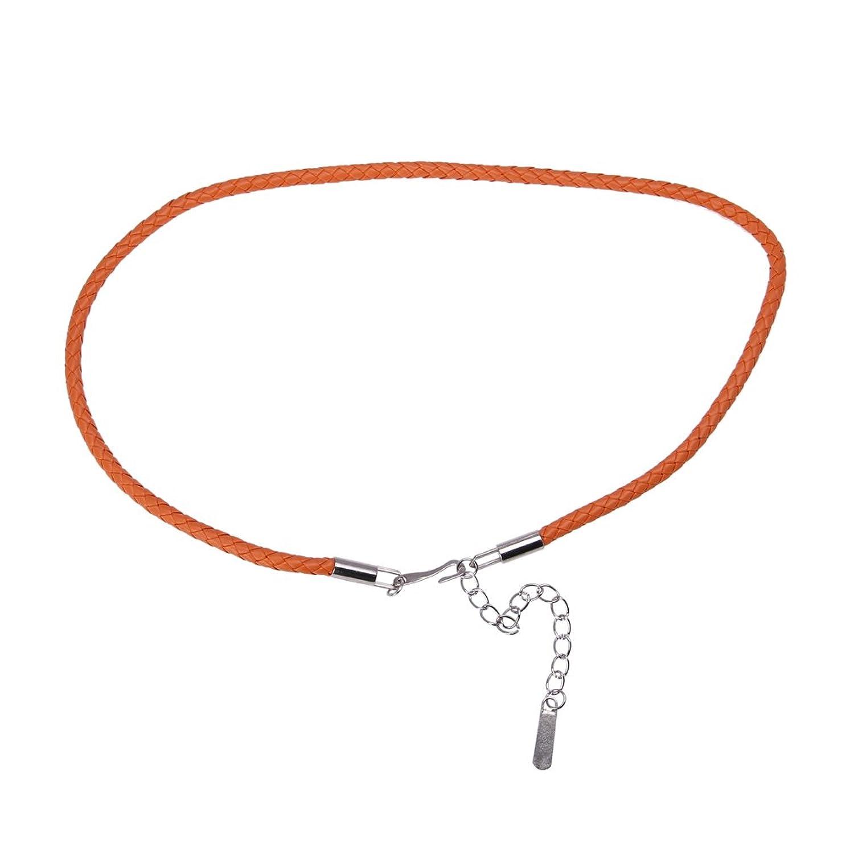 EOZY 5 Stück Süß Schmal Gürtel Damen für Kleider/Hemd Länge:75cm (#4 Orange)