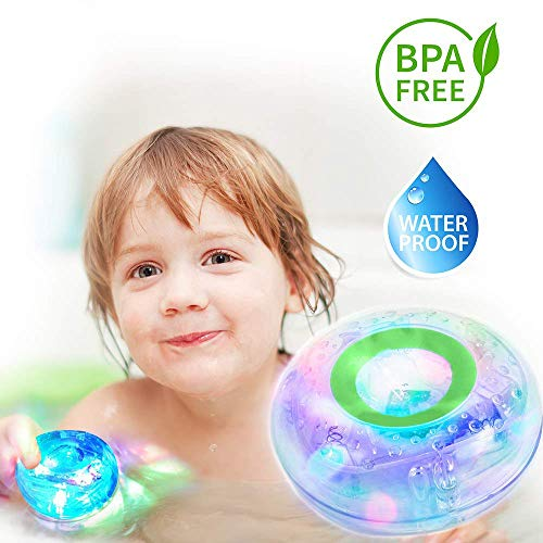 MorganProducts Light - up Toy Waterproof for Kids Durable Floating Safe for Baby with Instruction Boys and Girls Toddler Toys Children Prime Water Gift Toys Educational Boat Pool Fun.