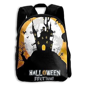 Halloween Festival Party Children School Book Bag Kids Printing Backpacks
