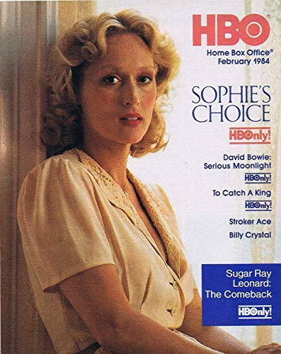 ORIGINAL Vintage February 1984 HBO Magazine Sophie's Choice David Bowie