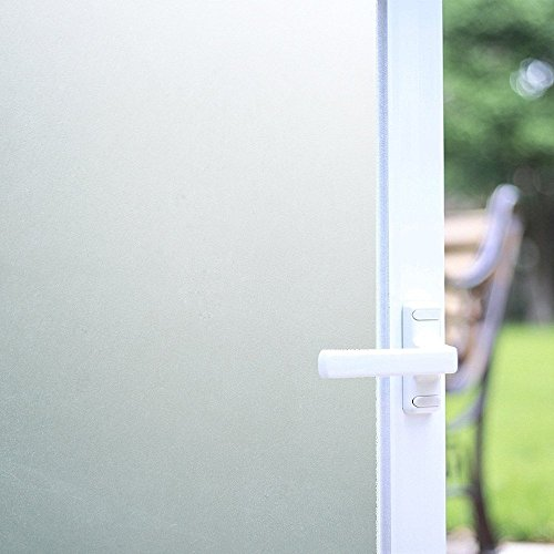 "Bloss Frosted Etched Window Film No-glue Privacy Glass Film Decorative Static Cling Film Sticker for Office Home Bedroom Bathroom Kitchen 17.7"" X 78.7"""