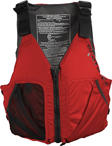 Extrasport Endeavour Life Jacket, Red, Universal