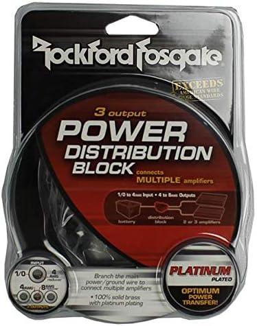 4 ROCKFORD FOSGATE RFD1 0//1//4-Gauge Ga Car Audio Distribution Blocks 1-In 2-Out