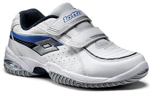 Lotto Sport Smash CL S., Unisex - Enfant, Blanc/bleu