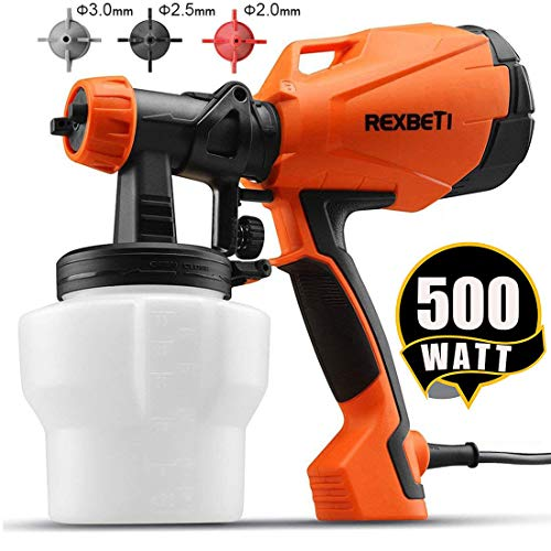 REXBETI Ultimate-750 Paint Sprayer, HVLP Home Power Painter with 3 Spray Patterns Flow Control, 750ml/min