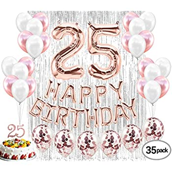 Amazon 25th Birthday Party Decorations Rose Gold Decor Strung
