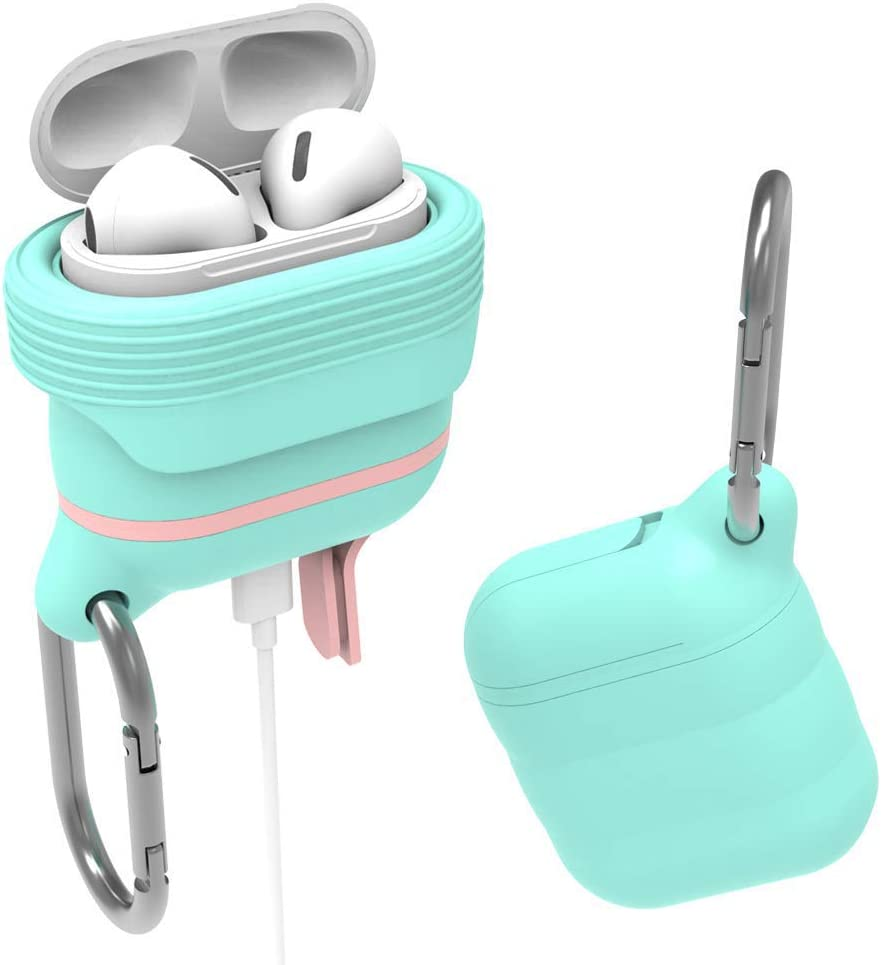 Premium Quality Waterproof Shock Resistant Case for Apple AirPods Airpod Silicone Case Cover EYMEN Mint