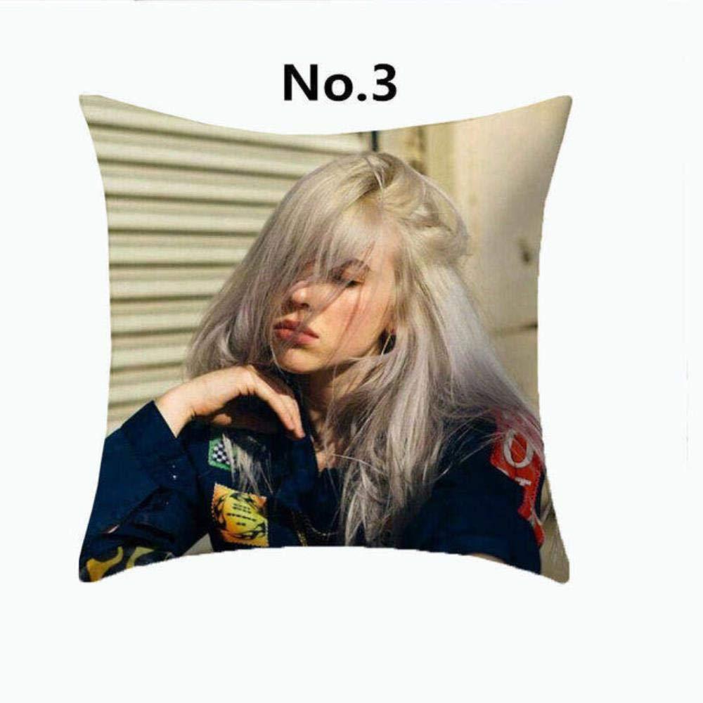 1 CCYK Billie Eilish Print Polyester Kissenbezug Home Dekorative Kissen Pop S/änger Billie Fans Home Decoration Dekokissen Fall