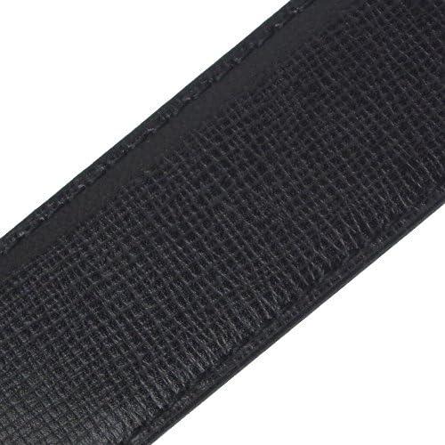 ベルト メンズ DUNHILL シルバーバックル ブラック+型押しブラック HPD810 [並行輸入品]