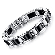 Men's Stainless Steel Magnetic Therapy Bracelet For Arthritis Pain Relief