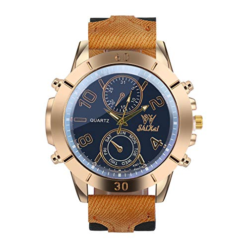 Sodoop Wrist Watches for Mens Luxury Men Watch Business Large Dial Watch, Fashion Quartz Silica Gel Watch for Men Collection
