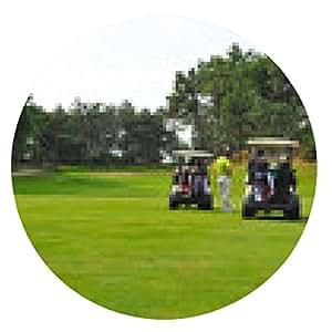 alfombrilla de ratón Los jugadores en el campo de golf - ronda - 20cm