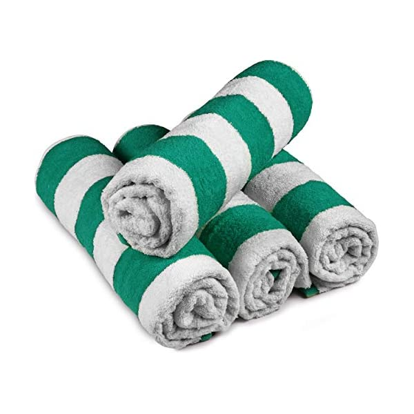 Utopia Towels - 4 Telo mare, Asciugamani da spiaggia, motivo a righe - 100% cotone (76 x 152 cm, Varieta) 3 spesavip