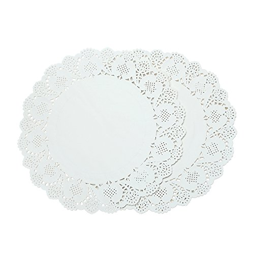 "Doilies Paper Lace 12"" Round Off White Cake Placemats Crafting Coaster of Table Supplies Decoration 200pcs"