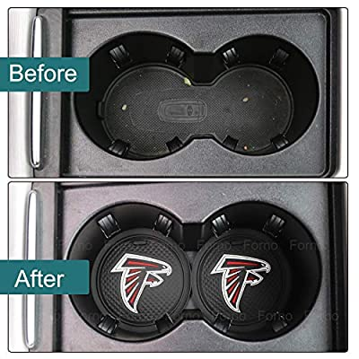 2 Pack 2.75 inch for Atlanta Falcons Car Interior Accessories Anti Slip Cup Mat for All Vehicles (Atlanta Falcons): Automotive