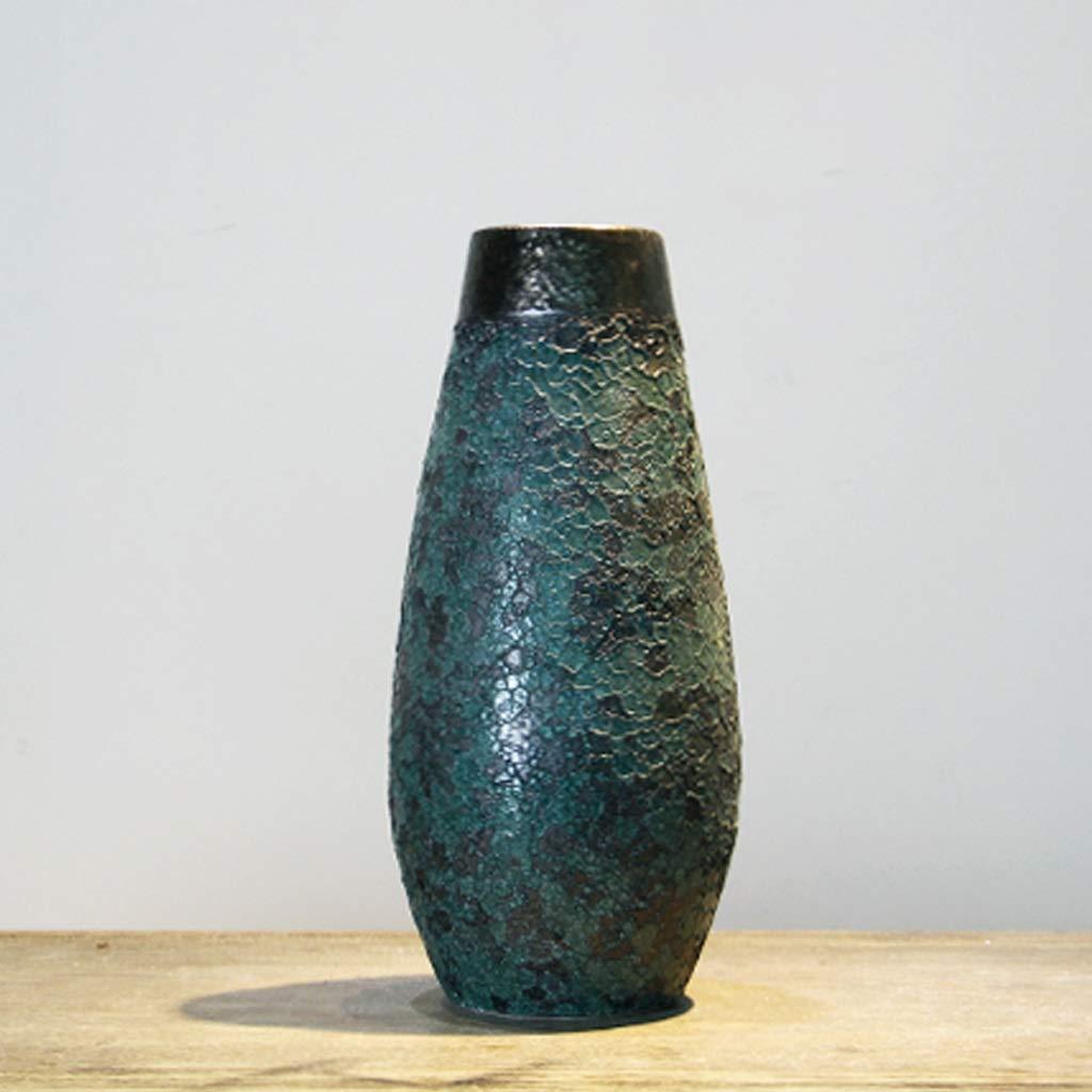 HBJP 手作りのセラミック花瓶装飾リビングルーム乾燥花瓶装飾/グリーン 花瓶 (サイズ さいず : 15cm×34cm) B07RWTTT9V  15cm×34cm