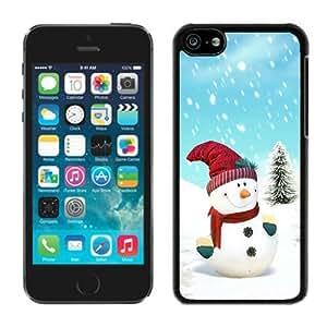 linJUN FENGPersonalized iphone 6 plus 5.5 inch TPU Case Christmas Snowman Black iphone 6 plus 5.5 inch Case 5