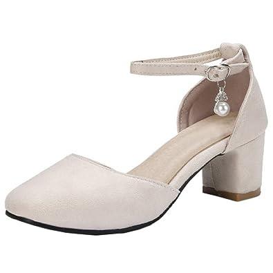 COOLCEPT Damen Fruhling Sommer Schuhe Knochelriemchen
