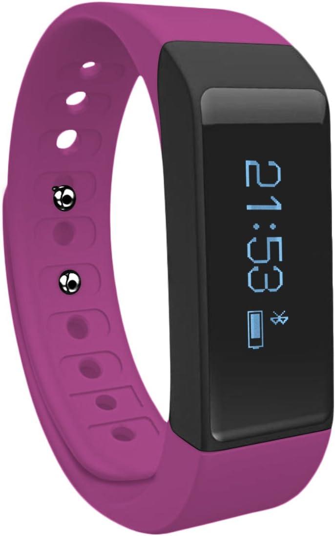 Toprime Electrònica Pulsera Inteligente I5 Plus OLED Táctil Conectada de Bluetooth 4.0+ Monitor para Teléfono Inteligente Púrpura: Amazon.es: Deportes y aire libre