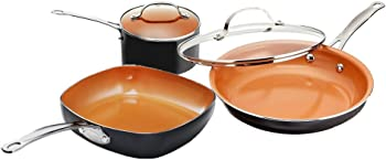 Gotham Steel Copper 5-Piece Cookware Set