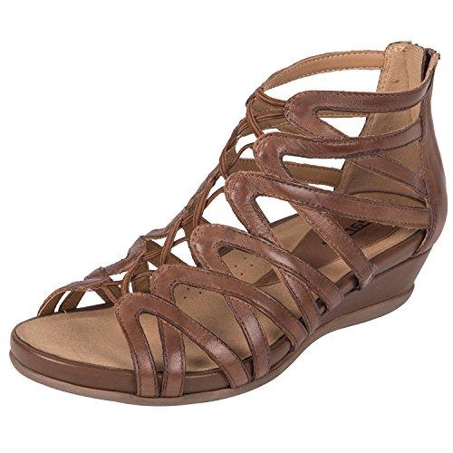 Almond Women's Sandal Soft Leather Juno Earth p0Rwxq1t