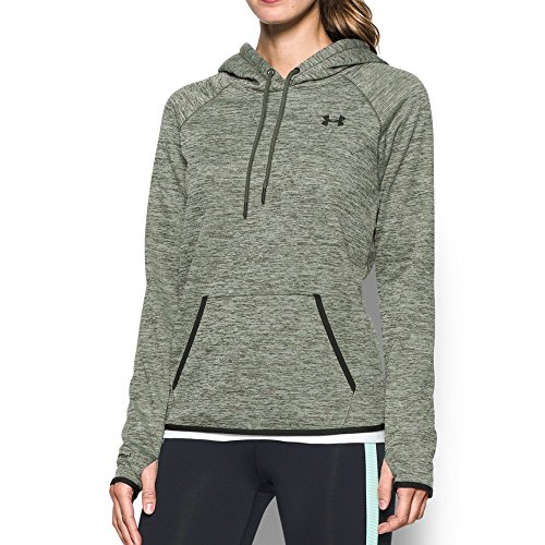 Under Armour Women's Storm Armour Fleece Icon Twist Hoodie, Downtown Green/Black, X-Large