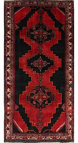 One-of-A-Kind Meshkin Tribal Handmade 5x10 Red Wool Persian Oriental Runner Rug (9' 7